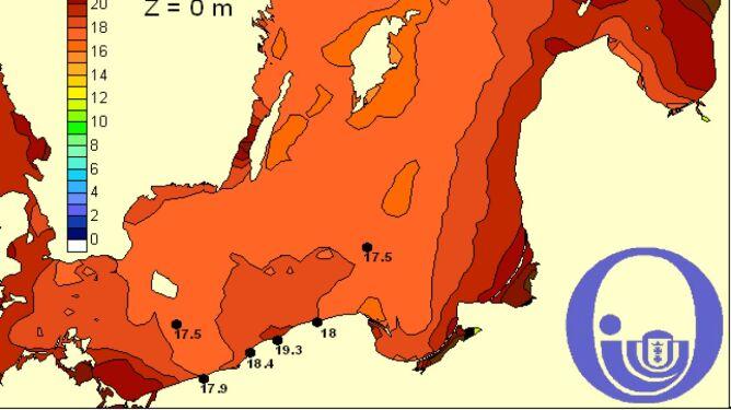 Temperatura Bałtyku / Pracownia Dynamiki Morza, Instytut Oceanografii, UG
