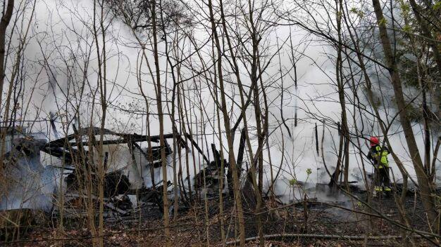 Pożar budynku na Białołęce