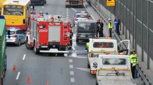 Kierowcy gasili płonącego busa