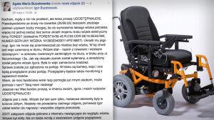 """Ukradli wózek niepełnosprawnemu. """"To jego nogi"""""""