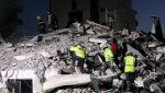 Trzęsienie ziemi w Albanii (PAP/EPA/MALTON DIBRA)