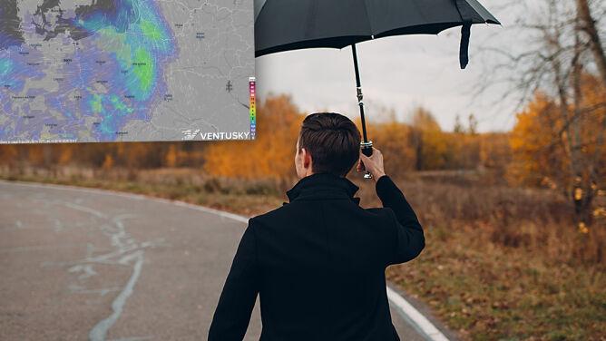 Ciepły początek grudnia. <br />Pamiętajmy jednak o parasolach