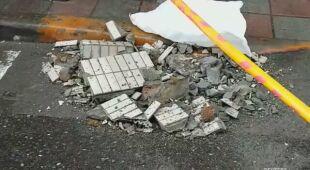 Zniszczenia w Tajpej po trzęsieniu