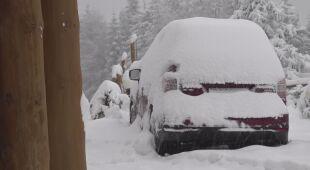Kilkadziesiąt centymetrów śniegu spadło w Karkonoszach