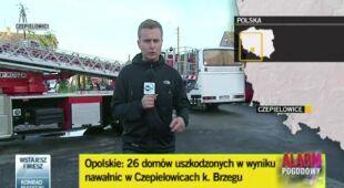 W Czepielowicach grad zniszczył dachy 31 domów/TVN 24